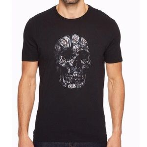 JOHN VARVATOS Rose Skull Shirt